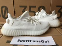 Wholesale fluorescent shoe laces - DHL Free Cp9366 V2 Cream White 350 Fluorescent Factory V2 36-48 us13 Real 350 V2 With Box Socks Kanye West Running shoes