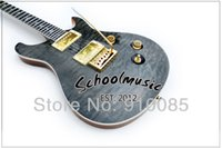 Wholesale Transparent String Body - Best Price Selling New Transparent Black Maple Top Custom Electric Guitar Musical Instruments (Free Shipping)