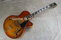 Wholesale electric guitars l5 for sale - Group buy New Arrival G Custom L5 Jazz Guitar CES Archtop Semi Hollow Electric Guitar Orange Color In Stock