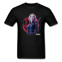 camisas de algodón negro de china al por mayor-Sex Black Widow Tees gráficos China Mejor Nueva camiseta Proveedores Venta al por mayor Impresiones 3D Camisetas Camisa de ropa de alta calidad 100% algodón