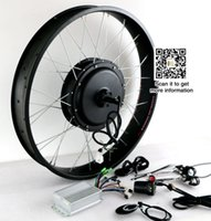 колесный велосипед diy оптовых-Жир велосипед 48V 1500W электрический велосипед комплект преобразования заднего колеса двигателя без батареи велосипед DIY частей