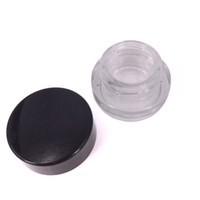 Wholesale lips making online - 2g ml clear glass jar container with plastic lid For Lip Balms Creams wax Oils Salves Lotions Make Up Cosmetics Nail Accessorie