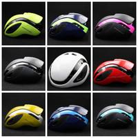 Wholesale cycling race helmets - 10 colors Cycling Helmets Racing Triathlon Mountain Bike Aero Helmet Equipment Security Protective Gear Movistar Safety Helmets GGA637