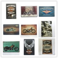 Wholesale Vintage Tin Motorcycle - Wholesale Motorcycle Harley Cycles Vintage tin sign home Bar Pub Hotel Restaurant Coffee Shop home Decorative Retro Metal Poster