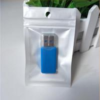 embalagem de saco de plástico pequena venda por atacado-Pequeno 6 * 10 cm Branco / Limpar Auto Seal Zipper Saco De Embalagem De Plástico Zip Bloqueio Saco De Armazenamento para o Leitor de Cartão de Exibição do Anel de Dedo Titular