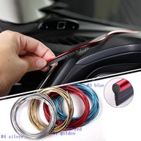 Wholesale door edges - 5M Interior Decoration line Strips Moulding Trim Dashboard Door Edge Universal For Car stickers Auto Accessories In Car-styling LJJM35