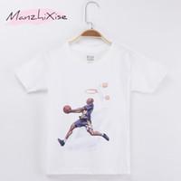 erkekler gündelik giyim tişörtleri toptan satış-2018 Yaz Rahat Çocuk T-shirt Basketbol Spor Dunk Üst Pamuk Çocuk Boy Kısa Tişörtlü Çocuk Giysileri Bebek Tee Kız Giymek