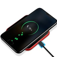 Wholesale mobile phone fast charger online - Mirror Wireless Charger For iPhone X Plus Fast Charging for Samsung S9 Note Mobile Phone Charger W QI Wireless Charger by niubility