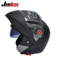 Wholesale ece motorcycle full face helmet - Motorcycle Helmet double lens full face Motorcycle helmets ECE approved casco moto Racing motocross Helmet