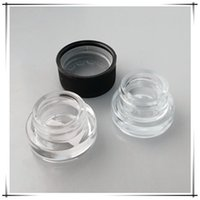 Wholesale glass jars free shipping - Hot Resistant Lid Glass Jar 5ml Dab Wax Dry Herb Glass Container Child Proof Bottle Free Shipping