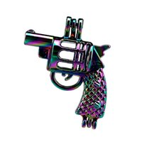 Wholesale bead gun resale online - 10pcs Rainbow Color Gun Pearl Cage Beads Cage Locket Pendant Diffuser Aromatherapy Perfume Essential Oils Diffuser Floating Pom