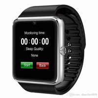 Wholesale bs silver - CH GT08 SmartWatche Bluetooth Smart Watch Wristband Bluetooth Bracelet WithSim Card Push Message Bluetooth Connectivity Android Phone C-BS