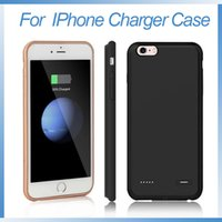 Wholesale Iphone Rechargeable Battery Case - Rechargeable back up for iphone 6 charger case portable power bank extended battery case for iphone 6 6s 7 8 plus
