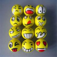 стресс питчер лицевой шар оптовых-Fun Emoji Face Squeeze Balls Современные средства для снятия стресса Relax Эмоциональные захваты для рук Упражнения для запястья Мячи для снятия напряжения Мышечная силовая тренировка