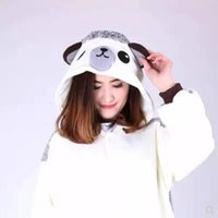 Wholesale conjoined cartoons for sale - Group buy Cartoon Hedgehog Conjoined Pajamas Unisex Cosplay Halloween Costume Cute Leisure Jumpsuits Warm Lovers Home Sleepwear CCA10283