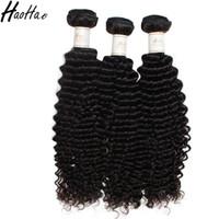 kinky kıvırcık insan saçı satışı toptan satış-İnsan Saç Sapıkça Kıvırcık Örgüleri Bakire Saç Demetleri Hiçbir Kimyasal Işlenmemiş Saç Uzantıları Haohao İndirim Satış