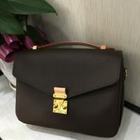 marka çanta toptan satış-Marka klasik 25 cm messenger çanta kadın hakiki deri çanta 40780 m41465 lüks tasarım ikonik çanta omuz çantaları lady casual tote metis