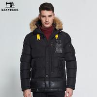 лоскутное пальто оптовых-KENNTRICE куртка с капюшоном куртки зимние пальто Мужские пальто куртки пэчворк из искусственного меха кожаные зимние мужские куртки DSW020-1