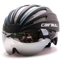 eps sport casco al por mayor-6 colores 280g Ultra-light Goggle Road Bicycle Helmet Racing Cycling Bike Sports Casco de seguridad en el molde Bicicleta de carretera