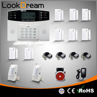 sistema de alarma inalámbrico de voz al por mayor-Actualice los sistemas de seguridad inalámbricos de la casa Alarma antirrobo GSM con marcación automática por SMS de voz por DHL gratuito