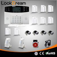 wireless alarm systems achat en gros de-Mise à niveau des systèmes de sécurité sans fil de la maison GSM alarme antivol à la maison avec numérotation vocale SMS Auto Par DHL gratuit