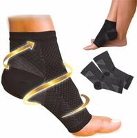 ingrosso piede angelo calzino-2018 piede angelo anti fatica a compressione compressione calze sportive circolazione caviglia gonfiore rilievo all'aperto in esecuzione ciclo calzini da basket