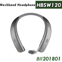 oberes nackenband großhandel-HBS W120 Bluetooth Drahtlose Kopfhörer Top Qualität CSR 4,1 Nackenbügel Sport Kopfhörer Headsets Mit Mikrofon Lautsprecher Neueste Ankunft Für LG TONE