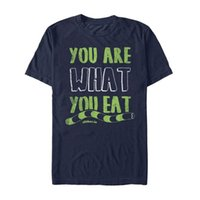 Wholesale free games online online - Adult quot You are What you Eat quot Slither io Online Game Snake T Shirt Tops Cool T Shirt top t shirt
