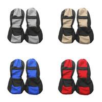 красные чехлы для сидений оптовых-4шт универсальный четыре сезона автокресло охватывает автокресло аксессуары для укладки красный синий бежевый и серый цвет дышащий легко чистить