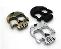New Self Defense Skull Head Metal Buckles Emergency Self Protection Portable Finger Buckle