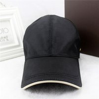 Wholesale black french models - French popular style hat luxury brand baseball cap men and women models black cap box original packaging