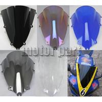 pára-brisa azul para motocicleta venda por atacado-Defletores de tela de vento windshield pára-brisa da motocicleta para 1998 1999 98 99 yzf yzf 1000 r1 yzf-r1 azul preto irídio