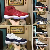 Wholesale Cheaper Basketball Shoes - Cheaper Basketball Shoes 11 Men Women Chicago Gym Red Midnight Navy Space Jam Gamma Blue Black White Bred Sneakers Sports Shoes With Box