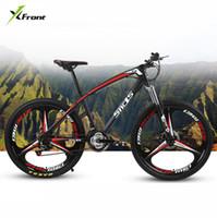 12 inçlik bisiklet jantları toptan satış-Yeni marka Karbon Çelik Çerçeve Dağ Bisikleti 26 Inç Tekerlek 21/24/27 Hız Disk Fren Açık Downhill MTB Bicicleta bisiklet