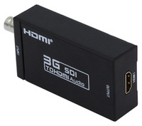 Wholesale 3g hdmi resale online - 20pcs Mini HD G SDI to HDMI Converter Adapter Support HD SDI G SDI Signals Showing on HDMI new