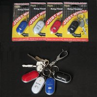 Wholesale whistle lost keys resale online - Outdoors Key Finder Anti Lost Keychain Switch Style Keies Seeker Whistle Search Buckle Control Locator With Mix Color cf jj