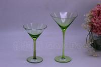 grüne farbe glas tassen großhandel-Grüner Rotwein Becher Wein Farbe Glas Becher Hauptlieferung Schmuck Ornamente Sonderangebot