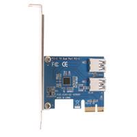 adaptador agregar al por mayor-PCI Express PCI-E a la tarjeta adaptadora convertidora de puerto USB3.0 dual Tarjetas adicionales para la promoción de la máquina de minería BTC