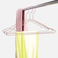 Wholesale garment hangers for sale - Group buy Fashion Rose Gold Coat Hangers Iron Art Metal Airing Racks Home Furnishing Modern Clothes Stand Non Slip yt Ww