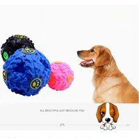 Wholesale Dog Squeaker Ball - 7.5cm Dog Toys Pet Puppy Sound Ball Leakage Food Ball Sound Toy Ball Dog Cat Squeaky Chews Puppy Squeaker Toys CCA8481 100pcs