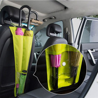 suportes para guarda-chuvas venda por atacado-Car Seat Back Umbrella Storage bag Hanger Foldable Umbrella Holder Pouch Anti Dirt Car Seat Bag Storage T3I0366