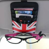 Wholesale Eye Glasses Card Bill Pen Holder Clip Car Vehicle Accessory Sun Visor Sunglasses Credit Card Cover