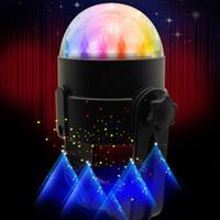 topu ledli sahne lambası toptan satış-Mini Araba DJ Patlama atmosfer lambası, Ses Aktif Çok renkli Top Işık, Araba Dekorasyon Işık, Led Sahne Işık, Parti Işık