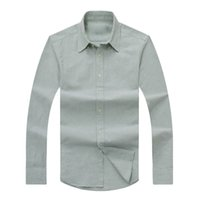 Wholesale Casual Grey Dress Shirt - 2018 autumn winter men's long-sleeved Dress shirt men's casual POLO small horse Grey shirts fashion USA Brand Designer Oxford social shirt