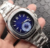 Wholesale Watch Eyki Mechanical Automatic - HOT nautilus date automatic silver CASE High quality Promotion fashion Stainless steel brand new men watch wristwatch Mens watches