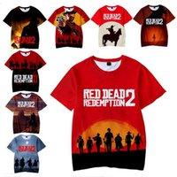 camiseta dos homens unisex venda por atacado-Jogo Red Dead Redemption 2 Crianças Adultos 3D Dos Desenhos Animados Imprimir T-shirt Das Mulheres Dos Homens T Camisa Crianças Menino Meninas de Manga Curta Unisex Top Tees roupas