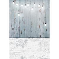 hölzerne hochzeit kulissen großhandel-Fotografie Backdrops Grey Shabby Wooden Floor Hintergründe für Foto Studio Hochzeit Fotos Baby Shower Neugeborenen Kinder und Kind