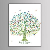 parmak izi ağacı konuk defteri toptan satış-Yenilikçi Parti Malzemeleri Için Parmak Izi Ağacı Doğum Günü Partisi Düğün Hediye Dekor Düğün Ziyaretçi Defteri Katılım Parmak İzi Ağacı
