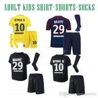 Wholesale sg black - 17 18 PSG kit PARIS SG NEYMAR JR SOCCER JERSEYS survetement verratti matuidi cavani di maria zlatan maillot de foot JERSEY 17 18 camisa