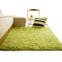 ingrosso stuoie auto gialle-Morbido tappeto shaggy per soggiorno europeo casa peluche caldo pavimento tappeti soffici stuoie camera dei bambini faux pelliccia coperta tappeto soggiorno tappeti